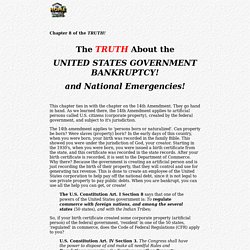 Chapter 8 - United States Government Bankruptcy