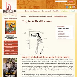 Chapter 6: Health exams - Hesperian Health Guides