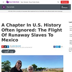 A Chapter In U.S. History Often Ignored: The Flight Of Runaway Slaves To Mexico