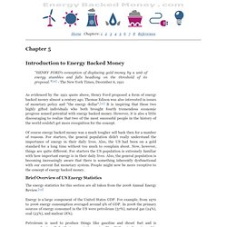 Chapter 5: Introduction to Energy Backed Money