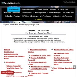 Chapter 1. Introduction (Chapter Menu) – The Foresight Guide
