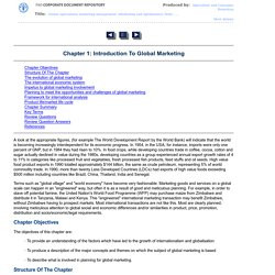 Chapter 1: Introduction To Global Marketing