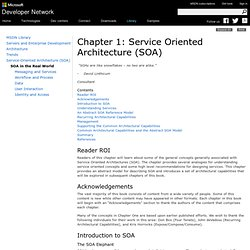 Chapter 1: Service Oriented Architecture (SOA)