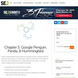 Chapter 3: Google Penguin, Panda, & Hummingbird
