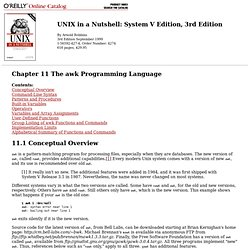 Chapter 11 The awk Programming Language