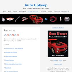 Chapter Resources | Auto Upkeep