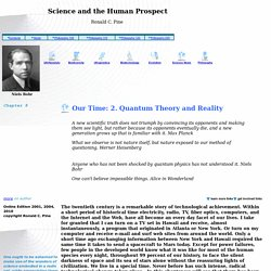 Chapter 1:Science and the Human Prospect