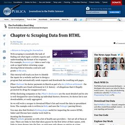 Chapter 4: Scraping Data from HTML