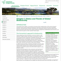 Chapter 1 Status and Trends of Global Biodiversity