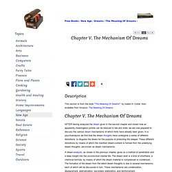 Chapter V. The Mechanism Of Dreams
