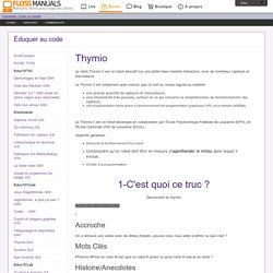 /chapter: Thymio / Éduquer au code