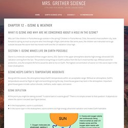Chapter 12 – Ozone & Weather – Mrs. Grether Science