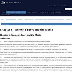 Chapter 6 - Women's Sport and the Media