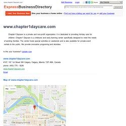 www.chapter1daycare.com, #107, 197 1st Street SW Calgary, Calgary, Alberta, T2P 4M4, Canada
