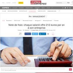 Note de frais: chaque salarié offre 212 euros par an à son entreprise