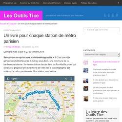 Un livre pour chaque station de métro parisien – Les Outils Tice