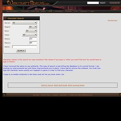 WarcraftRealms