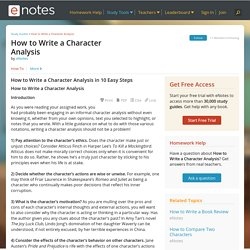 How to Write a Character Analysis in 10 Easy Steps