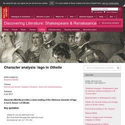 Character analysis: Iago in Othello
