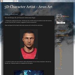 3D Character Artist - Arun Art: New Art Designs By 3D Character Artist Arun Nagar