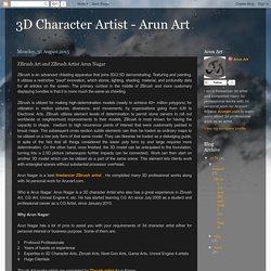 3D Character Artist - Arun Art: ZBrush Art and ZBrush Artist Arun Nagar