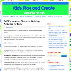 Self Esteem and Character Building Activities for Kids