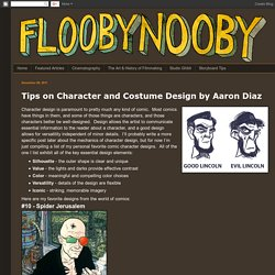 Tips on Character and Costume Design by Aaron Diaz