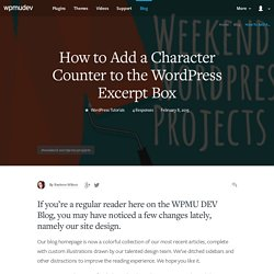 How to Add a Character Counter to the WordPress Excerpt Box