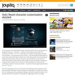 Halo: Reach character customization detailed