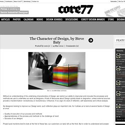 The Character of Design, by Steve Baty