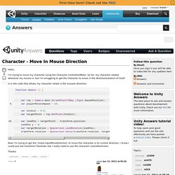 Character - Move In Mouse Direction
