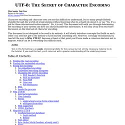 UTF-8: The Secret of Character Encoding - HTML Purifier