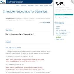 Zeichencodierung für Anfänger