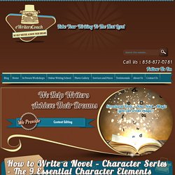 How to Write a Novel – Character Series – The 9 Essential Character Elements Worksheet :eWritersCoach