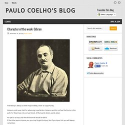 Character of the week: Gibran « Paulo Coelho's Blog