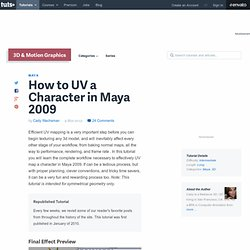 How to UV a Character in Maya 2009