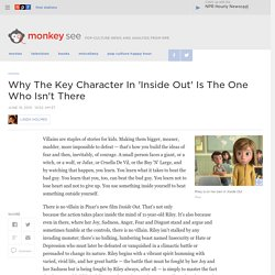 Why The Key Character In 'Inside Out' Is The One Who Isn't There : Monkey See