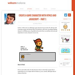 Create a Game Character with HTML5 and JavaScript - Part 1 { William Malone }