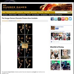 The Hunger Games Character Posters Now Available | My Hunger Games