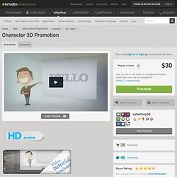 Character 3D Promotion