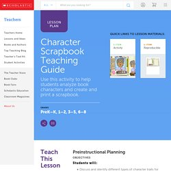 Character Scrapbook Teaching Guide