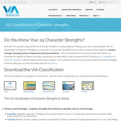 Learn Your 24 Character Strengths: VIA Character Survey