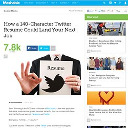 How a 140-Character Twitter Resume Could Land Your Next Job