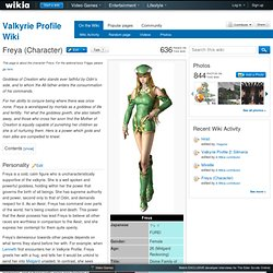 Freya (Character) - The Valkyrie Profile Wiki - Valkyrie Profile, Valkyrie Profile 2, Lenneth, and more