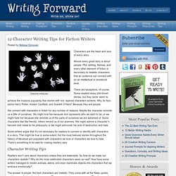 12 Character Writing Tips for Fiction Writers