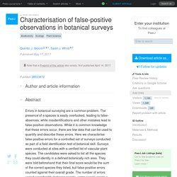 Characterisation of false-positive observations in botanical surveys