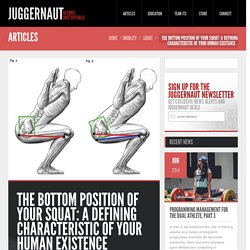The Bottom Position of Your Squat: A Defining Characteristic of Your Human Existence - Juggernaut Training Systems - Juggernaut Training Systems