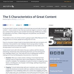 The 5 Characteristics of Great Content - Acrolinx
