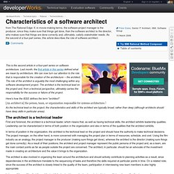 Characteristics of a software architect