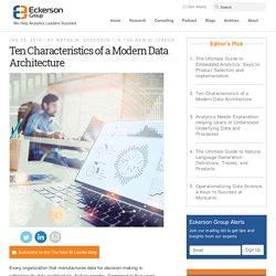 Ten Characteristics of a Modern Data Architecture